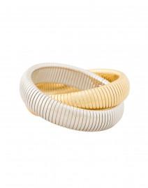 Double Gold and Rhodium Cobra Bracelet