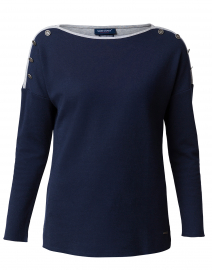 Paloma Cotton Navy Cotton Sweater