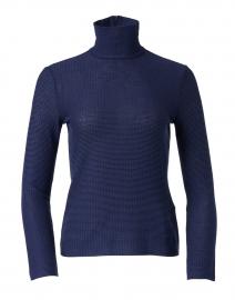 Dark Blue Jersey Knit Top