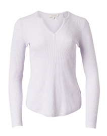 Lilac Ribbed Cotton Cashmere Sweater