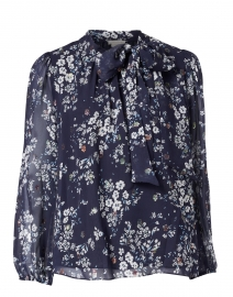 Bell Navy and White Floral Blouse