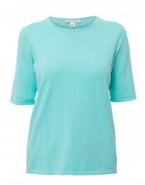 Aqua Cotton Knit Top