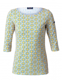 Garde Cote Imprim Blue and Yellow Anchor Print Shirt