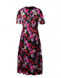 Diwesa Multicolored Floral Silk Midi Dress