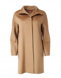 Colle Camel Virgin Wool Overcoat