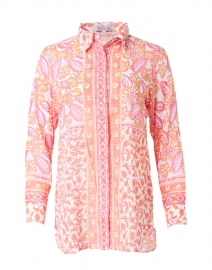 Orange and Pink Fiona Floral Cotton Shirt