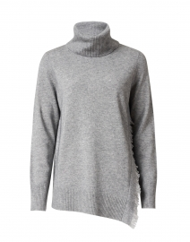 Grey Wool Cashmere Turtleneck Sweater