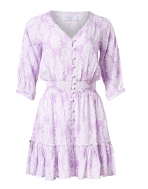 Kelsey Lavender Floral Print Dress