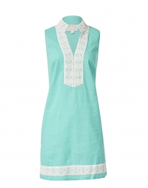 Mint Stretch Linen Classic Tunic Dress