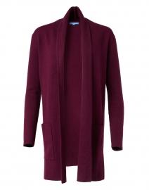 Loganberry Cotton Cashmere Travel Coat