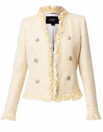 Light Yellow and White Tweed Jacket
