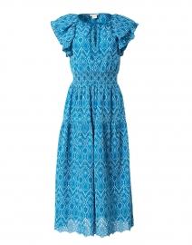 Zona Teal Cotton Eyelet Dress