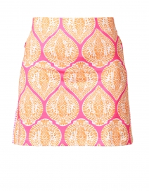 Pink and Orange Printed Skort