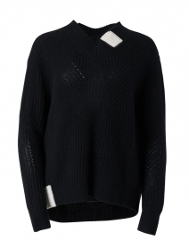 Candyland Black and Ivory Cashmere Sweater