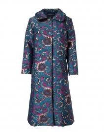 Hana Jade and Plum Floral Brocade Coat