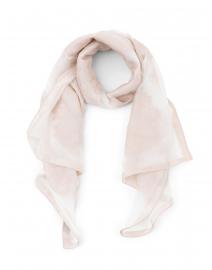 Mochi Powder Pink Floral Printed Silk Scarf