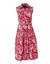 Audrey Rose Paisley Printed Stretch Cotton Dress