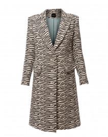 Zebra Peaked Lapel Overcoat