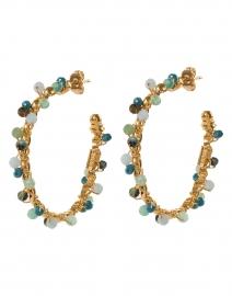 Creole Orphee Gold Multi Beaded Hoop Earrings