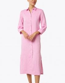 120% Lino - Orchid Linen Shirt Dress