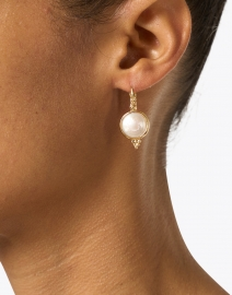 Gas Bijoux - Gold and White Mother of Pearl Drop Earring