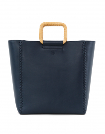 NS Munson Navy Leather Tote