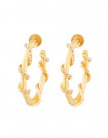 Gold Vine Hoop Earring