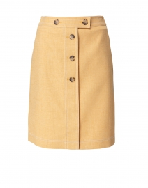Taya Marigold Yellow Button Front Skirt