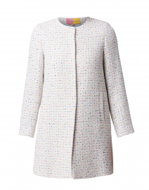 Sofia White Confetti Tweed Long Jacket