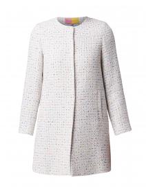 Sofia White Confetti Tweed Long Jacket