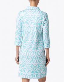 Gretchen Scott - Turquoise Mosaic Printed Jersey Henley Dress