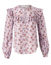 Viveca Lavender Floral Print Cotton Top