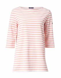 Phare White and Coral Striped Shirt