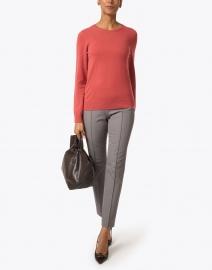 Lafayette 148 New York - Gramercy Grey Stretch Pintuck Pant