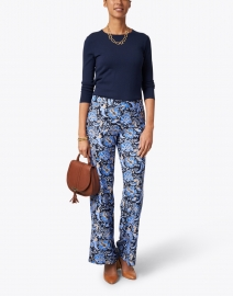 Jude Connally - Trixie Navy and Blue Batik Floral Pant