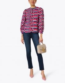 Banjanan - Jennifer Pink and Blue Geo Printed Cotton Shirt