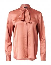 Seventy - Pink Satin Tie Blouse
