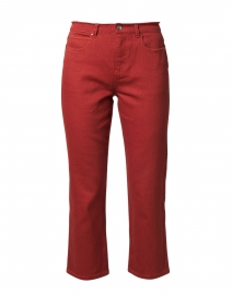 Sunset Rust Cotton Stretch Straight Leg Jean