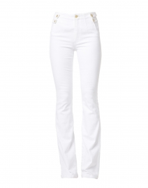 Beverly Essential White High Rise Flare Stretch Denim Jean