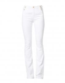 Veronica Beard - Beverly Essential White High Rise Flare Stretch Denim Jean