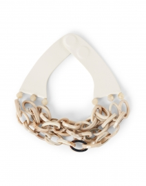 Mirella Ivory Horn Resin Chain Link Necklace