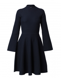 Navy Textured Knit Dress