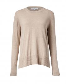 Oat Heather High Rib Cotton Silk Sweater