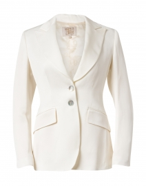 White Linen Swing Jacket