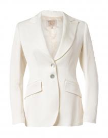 T.ba - White Linen Swing Jacket