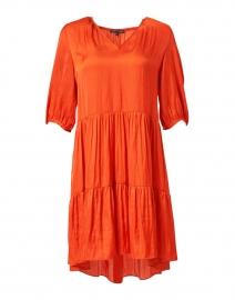 Reeza Orange Satin Dress