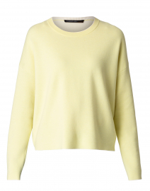 Yellow Sweater with White Trim