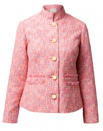 Pink Tweed Button Up Jacket