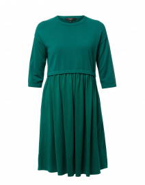 Mincio Emerald Green Cotton Dress