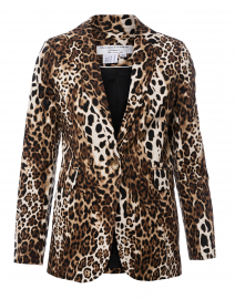 Leopard Printed Stretch Cotton Blazer
